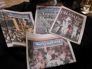 Yankees World Series Victory 1996 Set of 5 Newspapers