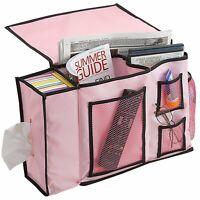 8 Pocket Bedside Caddy Storage Organizer for Books,Phones,Tablets,and TV Remote