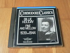 Billie Holiday : Fine and Mellow 1939 & 1944 - CD Commodore Teldec West Germany