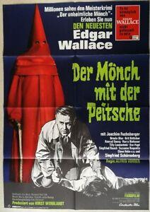 EDGAR WALLACE: DER MÖNCH MIT DER PEITSCHE ´67 - Orig.Kino-Plakat A1 -Fuchsberger