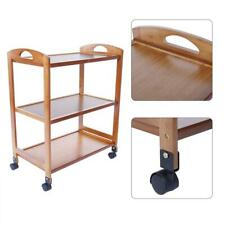 3-Tier Moveable Kitchen Trolley Rolling Storage Rack Organizer with Wheels HG