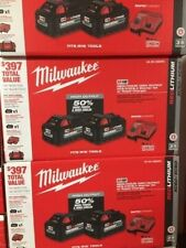 Milwaukee 48-59-1880Rc 18 V One 8.0 Ah and One 6.0 Ah Battery, Charger with Bag