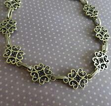 Antigue Bronze Fancy Links Chain - 1 metre