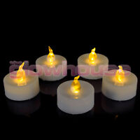 FLAMELESS TEA LIGHT CANDLES FLICKERING LED TEALIGHTs CANDLES BATTERY