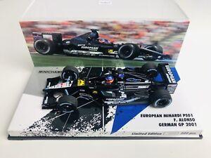 1/43 Minichamps Fernando Alonso Minardi PS01 German Grand Prix 2001 1