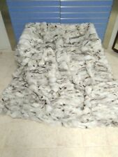 Luxury Blue Fox Fur Throw Real Fox Fur Blanket / Bedspread King Size