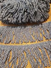 beautiful blue chenille bullion fringe trimming braid