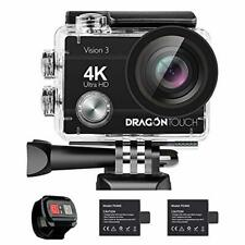 Dragon Touch 4K Action Camera 16MP Vision 3 Underwater Waterproof Camera 170° W