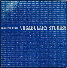 DR. BERGEN EVANS: Vocabulary Studies-M1972 5LP BOX with 5 STUDY MANUAL BOOKLETS