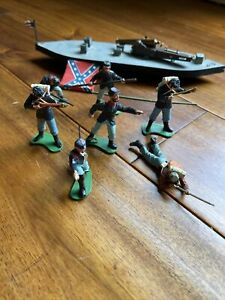 Vintage 1971 Britains Deetail Calvary Troops England Ship Cannon Lot Of 7
