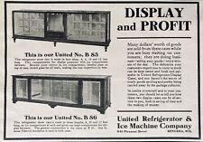 1913 Ad.(Xg15)~United Refrigerator & Ice Machine Co. Kenosha, Wis. Display Cases