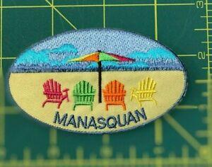 JERSEY SHORE BEACH CHAIR OVAL PATCH BELMAR MANASQUAN,SEA GIRT,SPRING LAKE,AVON