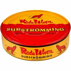 Röda Ulven Surströmming 300g Fisch Dose (fermentierte Heringe), SURSTROMMING