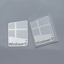 2x Windows 10 Sticker, Badge Logo Metal Sticker for Computer/Laptop PC USA