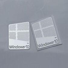 2x Windows 10 Sticker, Badge Logo Metal Sticker for Computer/Laptop PC USA
