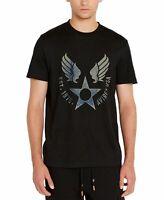 Avirex Mens T-Shirt Black Size XL Crewneck Logo Print Graphic Tee $39 151