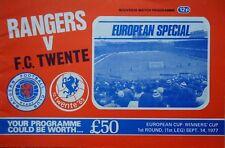 Programm EC 1977/78 Glasgow Rangers - Twente Enschede