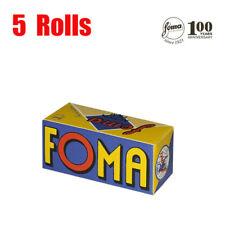 5 Rolls Foma Fomapan ISO400 100 Years Anniversary 120 format  B&W  Fresh 08/2022