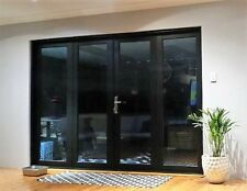 ALUMINIUM BIFOLD DOORS 4 PANEL, NEW 2950 x 2100h BLACK, In Stock