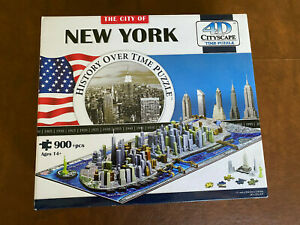 The City of New York History Over Time Puzzle 4D Cityscape 900 Pieces