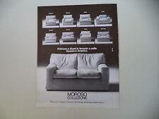 advertising Pubblicità 1982 MOROSO - TAVAGNACCO UDINE