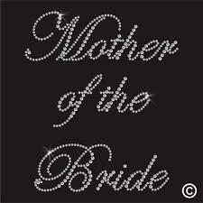 Iron On Rhinestone Motif WEDDING MOTHER OF THE BRIDE Diamante Transfer Hotfix