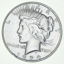 Better - 1934-D - Peace Silver Dollar - 90% US Coin *884