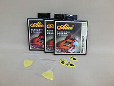 Alice AE531 Premium Electric Guitar Strings Super Lite (9 - 42) + Picks - 3 PACK