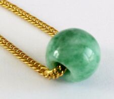 CHINESE GREEN LUCKY JADE TUBE PENDANT NECKLACE BIRTHDAY WOMEN MEN PARTY PO D5