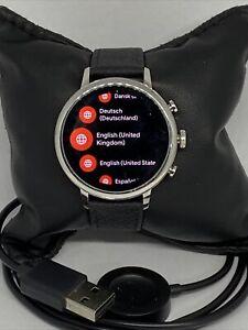 Fossil Venture HR Gen 4 FTW6017 Women's Black Leather Digital Dial Smart Watch
