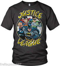 JUSTICE LEAGUE BATMAN SUPERMAN TEAM T-Shirt  camiseta cotton officially licensed