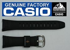 CASIO PATHFINDER PAW-500 Original Black Rubber Watch BAND Strap  PRG-140 PRW-500