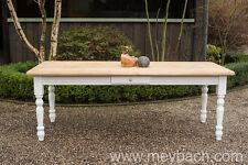 Tisch Esstisch Massivholz Landhaustisch Esszimmer 250 cm mod.03 weiss/natur Neu