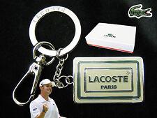 """Nuovo Originale Lacoste SMALTO """" Paris """" portachiavi BORSA FASCINO l24.21 Bianco"""