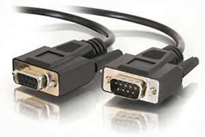 C2G 52033 DB9 M/F Serial RS232 Extension Cable, Black (25 Feet, 7.62 Meters)