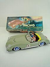 Vintage década de 1970 estaño coche de carreras MF763/fricción coche de carreras con efectos de sonido