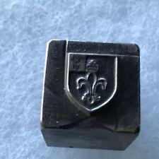 Antique Fleur-de-lis Jewelry Mold Die Hub Hob Steel Stamp Original Tool Master