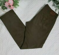 AG Adriano Goldschmied The Graduate Tailored Leg Green Mens Pants Size 34 x34