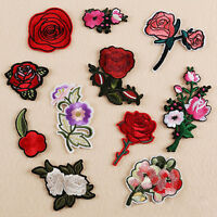 11pcs Embroidered Sew on Patch Badge Rose Flower Bag Dress Cloth Set New.