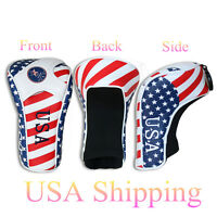 USA Flag Driver 460cc Golf Club Head Cover Cover Eay on & off Craftsman Golf New