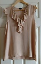 Theory Sz.M 100%silk blush cap sleeve top