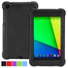 For Google Nexus 7 2nd Gen Case Black Poetic【TurtleSkin】Protective Silicone Case