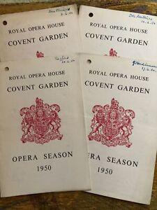 Wagner Ring Cycle Set Of 4 Opera Programmes 1950 - Kirsten Flagstad Set Svanholm