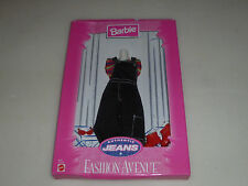 New Barbie Fashion Avenue Set Mattel Authentic Jeans Striped Shirt Denim Dress >