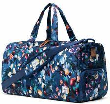 Herschel Novel Mid Duffel Bag Travel Strap Royal Hoffman Floral Flowers BNWT