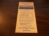 OCTOBER 1966 CNJ JERSEY CENTRAL JERSEY CITY, NJ FERRY SERVICE PUBLIC TIMETABLE