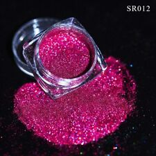 1g Holographic Pink Red Laser Glitter Powder Dust Nail Art Decoration Tips DIY