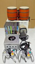 Nintendo GameCube Platinum Bundle 11 child/adult games *DK JUNGLE BEAT w bongos