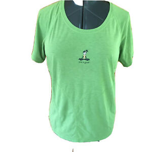 Life Is Good Womans Good Move Green Large Semi Fitted Pullover Yoga Shirt