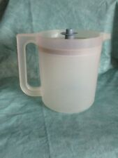 Tupperware Pitcher Go Between 1.5 Quart Frosted Sheer pitcher with blue push lid